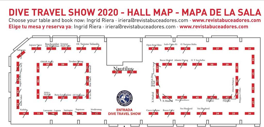 situacion stands expositores Dive Travel Show
